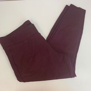 Torrid Maroon Full Length Pants Plus Sz 22-24